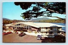 Lake Placid, Adirondacks, NY - GOLDEN ARROW MOTEL & OLD CARS - ROADSIDE PC - D3
