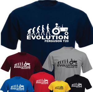 APE HUMAN TRACTOR EVOLUTION Ferguson T20 Farmer Farm Funny Present Gift T-shirt