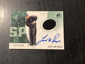 """2002 Upper Deck SP Game Used JUSTIN ROSE RC """"First Tee"""" Auto-Relic  #/1000"""