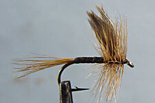 10 x Mouche Peche Sèche Quill Gingembre H14/16/18 dry fly fishing fliegen mosca