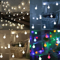 30/50LED Fairy LED String Lights Christmas Round Ball Blubs Wedding Party Lamp