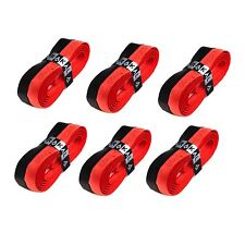 6 x Karakal Super DUO PU Replacement Grips Black/Red - Tennis Squash Badminton