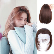 One Piece Side Fringe Bang Clip in Remy Human Hair Cover Loss Hair Extension