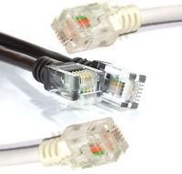 ADSL2+ RJ11 To RJ11 Phone Line Broadband Cable Modem Internet Router 1m-20m Lead