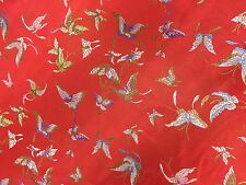 Chinese Oriental Butterfly Brocade, Silky Satin Smooth, Dress Fabric 92cm Wide