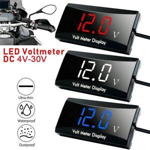 4-30V LED Digital Display Voltmeter Car Motorcycle Voltage Gauge Panel Meter US