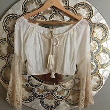 Spell and the Gypsy Collective Prairie Lace Off The Shoulder Top Size XS BNWT