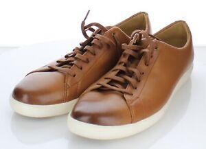 E15 NEW $150 Mens Sz 11 M Cole Haan Grand Crosscourt II Leather Sneaker In Tan