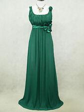Cherlone Plus Size Chiffon Green Ballgown Bridesmaid Wedding/Evening Dress 20-22