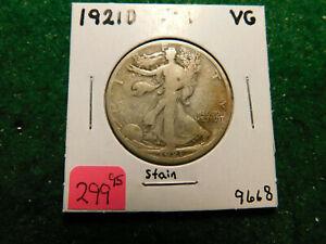 1921 D   Walking Liberty Half     Key Coin!!