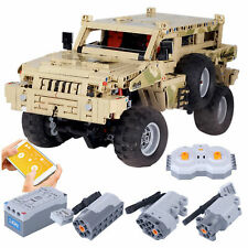 Off Road Hummer Crawler 1:8 Scal Motorized Remote dual Control Technic MOC Block