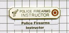 Police Department Firearms Instructor Citation Bar - White