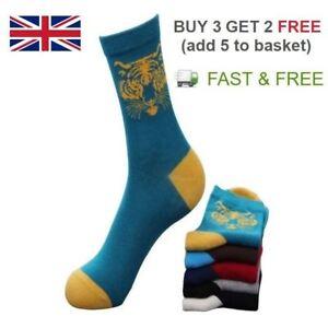 [Men/Women] Cotton Tiger Design Quarter Animal Trainer Novelty Ankle Socks Pack