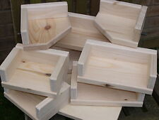 """Pack of 8 - 6,8,10 and 12"""" Long Solid Pine Shelves c/w Upstands Chinchillas"""