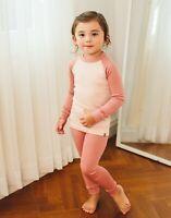 """Vaenait Baby Toddler Kids Clothes Long  Pajama Set """"Modal Raglang Pink"""" 18M-12Y"""