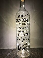 Someone We Love In Heaven Light up bottle, gift, present, unique x Bereavement