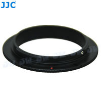 JJC 49mm Filter Thread Lens Reverse Ring Macro Adapter for Canon EOS Body Camera