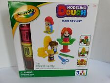 Crayola Modeling Dough Hair Stylist 15 Pieces Three Dough Colors Chair Comb