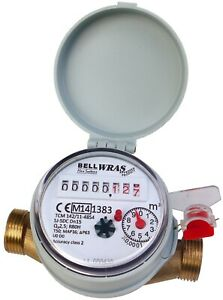 """WRAS Approved Single-Jet Cold Water Meter 1/2"""" BSP (15mm) :: House, Garden +"""