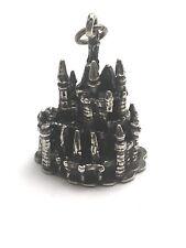 Vintage Sterling Silver 3-D Authentic Disney Cinderella Castle Charm Pendant