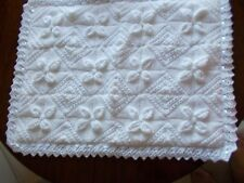 Hand Knitted lined Baby Blanket