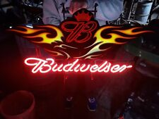 Large Budweiser Motorcycle Neon Sign Bud Custom Car Display Beer Store Bar Light