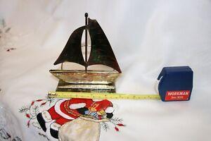 Vintage Brass Letter Rack Sailing Boat Design