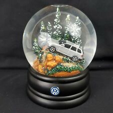VW Volkswagen Toureg Snow Globe, Hard to Find, Christmas, Mountains & Trees