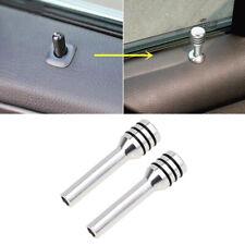 2x Aluminum Alloy Car Auto Interior Door Locking Lock Knob Pull Pin Cover Silver