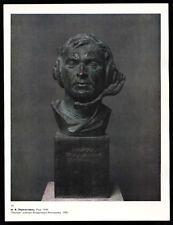 Sculpture of Avia pilot, died in Afghanistan War USSR Soviet Military Art Print