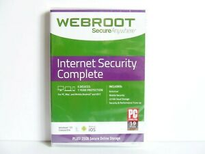 WEBROOT SecureAnywhere Internet Security Complete 5 Devices 1 Year New Sealed