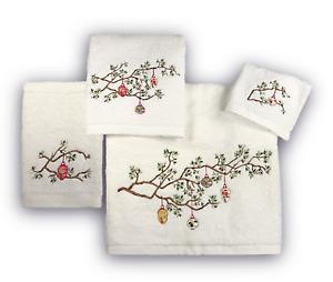 High End Embroidered Turkish Cotton Towel - Lantern Design - Multiple Colors