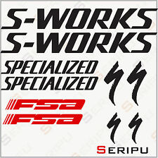 X10 PEGATINAS KIT S-WORKS SPECIALIZED RECORTE STICKERS DECAL MOUNTAIN BIKE BICI