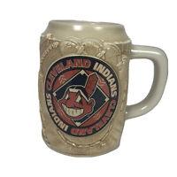 Vintage Chief Wahoo 1997 Cleveland Indians Beer Stein Mug Original Hologram