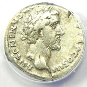 Antoninus Pius AR Denarius Silver Roman Coin 142 AD - Certified ANACS VF20