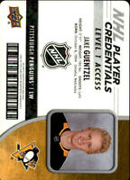 2018-19 Upper Deck MVP NHL Player Credentials Level 1 Access Jake Guentzel
