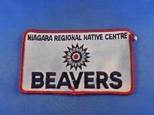BOY SCOUTS PATCH CANADA BEAVERS NIAGARA REGIONAL NATIVE CENTER COLLECTOR BADGE