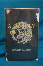 A History of Japan to 1334 by George Sansom Stanford 1958