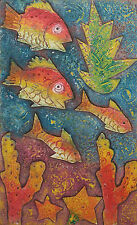 Vintage Color Print - 'Peces Tropicales' - Unsigned - Cuba - Late 20th Century