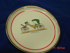 Vintage Car Plate Hyalyn Porcelain Company Piccolomini Caleche Old Automobile