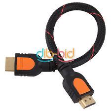 0.3m 1.4a HDMI Cable 1.4V 1080P HD w/  30cm Ethernet 3D Ready HDTV YU CA#