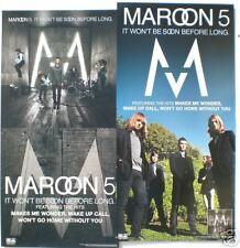 "Maroon 5 ""It Won'T Be Soon"" U.S. Promo Poster / Banner"