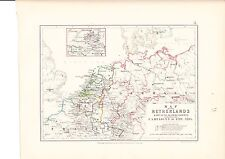 MAP/BATTLE PLAN ~ NETHERLANDS CAMPAIGNS OF 1792 - 1795