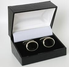 Danish silver cuff links made by N.E.From set with Black Onyx