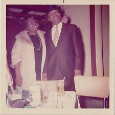 Vintage Photograph African American Man & Woman Standing by Table With Drinks