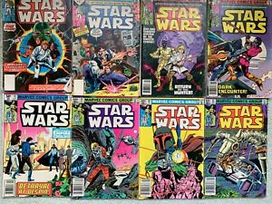 STAR WARS - Lot of 9 Comics #1 (YR 1977),  #7, #27, #29, #43, #66, #68, #69