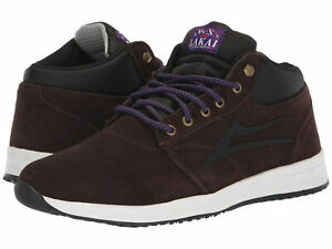 Lakai Skateboard Shoes Griffin Mid Chocolate Suede