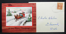 Us Postal History cover pondosa bleiber Christmas letter Inside EE. UU. carta h-7294