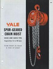 MRO Brochure - Yale - Spur-Geared Chain Hoist - c1964 (MR111)