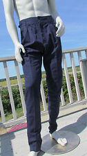 NEW 36 US BURBERRY PRORSUM pants ITALY 46 EU $795 linen high waist button front